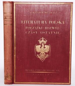 BRUCKNER ALEKSANDER - LITERATURA POLSKA. POCZĄTKI-ROZWÓJ-CZASY OSTATNIE.