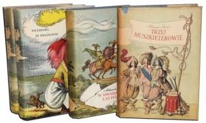 DUMAS ALEKSANDER - [TRYLOGIA]. TRZEJ MUSZKIETEROWIE; DWADZIEŚCIA LAT PÓŹNIEJ; WICEHRABIA DE BRAGELONNE 1-2.