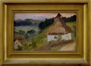 Malarz nieokreślony, XX w., Wiejski domek