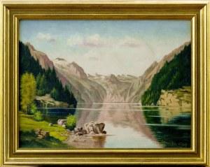 Malarz nieokreślony, XX w., Pejzaż górski