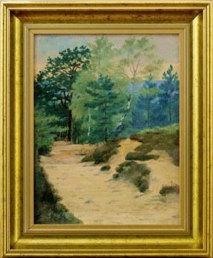 Malarz nieokreślony, XX w., Pejzaż leśny
