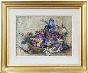 Hanna Pachniewska-Betley (1910-1987), Bukiet kwiatów, 1964