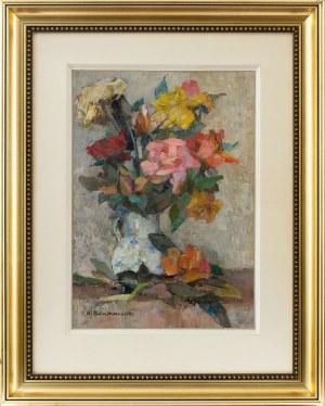Hanna Pachniewska-Betley (1910-1987) Kwiaty w wazonie, 1961