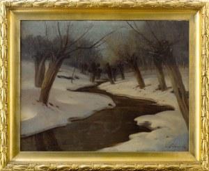 Artysta nieokreślony, XX w., Pejzaż zimowy