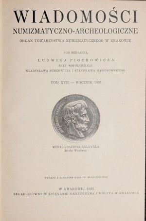 Wiadomości numizmatyczno-archeologiczne, Rocznik 1935, Kraków 1936.