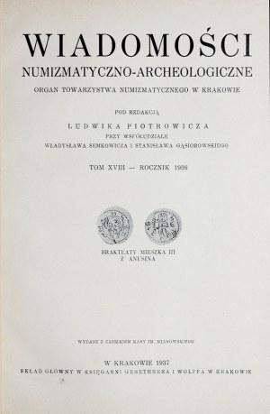 Wiadomości numizmatyczno-archeologiczne, Rocznik 1936, Kraków 1937.