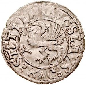 Pomorze, Bogusław X 1478-1523, Szeląg 1518, Szczecin.