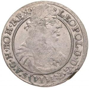 Śląsk, Leopold I 1657-1705, VI krajcarów 1665, Wrocław.