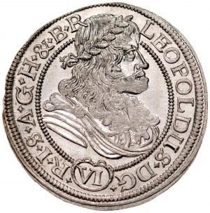 Śląsk, Leopold I 1657-1705, VI krajcarów 1679, Wrocław.