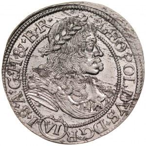 Śląsk, Leopold I 1657-1705, VI krajcarów 1678, Wrocław.