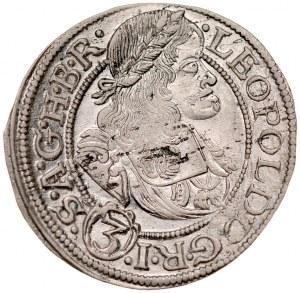 Śląsk, Leopold I 1657-1705, 3 krajcary 1668, Wrocław.