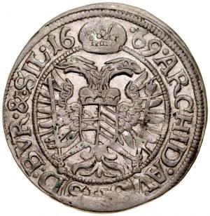 Śląsk, Leopold I 1657-1705, 3 krajcary 1669, Wrocław.