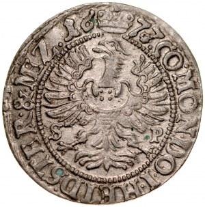 Śląsk, Księstwo Wirtembersko-Oleśnickie, Sylwiusz Fryderyk 1668-1697, 3 krajcary 1677, Oleśnica.