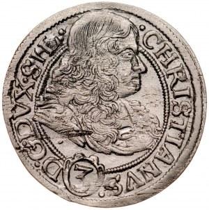 Śląsk, Księstwo Legnicko-Brzesko-Wołowskie, Chrystian 1639-1672, 3 krajcary 1669, Brzeg.