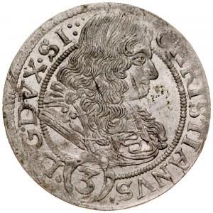 Śląsk, Księstwo Legnicko-Brzesko-Wołowskie, Chrystian 1639-1672, 3 krajcary 1670, Brzeg.