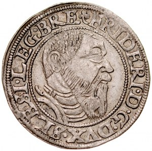 Śląsk, Księstwo Legnicko-Brzesko-Wołowskie, Fryderyk II 1505-1547, Grosz 1545, Legnica.