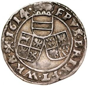 Śląsk, Księstwo Nyskie Biskupów Wrocławskich, Karol Austriacki 1608-1624, 3 krajcary 1614, Nysa.
