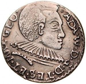 Śląsk, Księstwo Cieszyńskie, Adam Wacław 1579-1617, Trojak 1592, Cieszyn.
