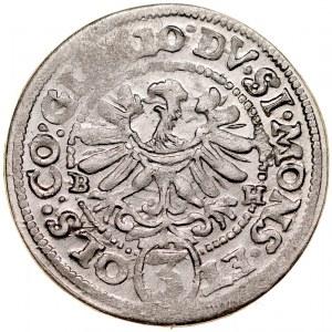 Śląsk, Księstwo Ziębicko-Oleśnickie, Henryk Wacław i Karol Fryderyk 1617-1639, 3 krajcary 1620, Oleśnica.