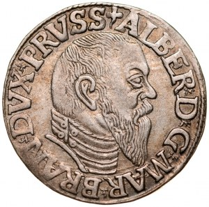 Prusy Książęce, Albrecht Hohenzollern 1525-1568, Trojak 1544, Królewiec.