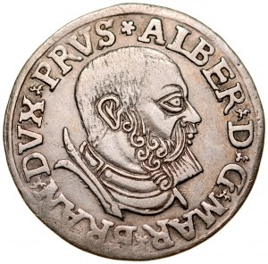 Prusy Książęce, Albrecht Hohenzollern 1525-1568, Trojak 1538, Królewiec.