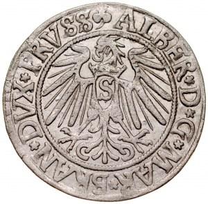 Prusy Książęce, Albrecht Hohenzollern 1525-1568, Grosz 1541, Królewiec.