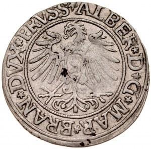 Prusy Książęce, Albrecht Hohenzollern 1525-1568, Grosz 1535, Królewiec.