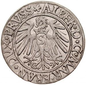 Prusy Książęce, Albrecht Hohenzollern 1525-1568, Grosz 1539, Królewiec.