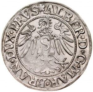 Prusy Książęce, Albrecht Hohenzollern 1525-1568, Grosz 1534, Królewiec.