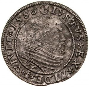 Prusy Książęce, Jerzy Fryderyk 1578-1603, Grosz 1586, Królewiec.