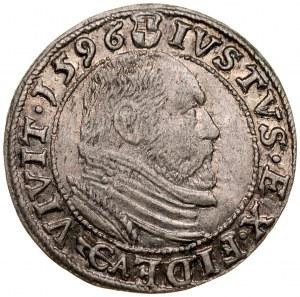 Prusy Książęce, Jerzy Fryderyk 1578-1603, Grosz 1596, Królewiec.