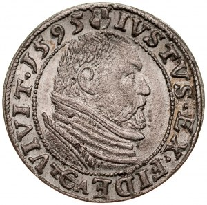 Prusy Książęce, Jerzy Fryderyk 1578-1603, Grosz 1595, Królewiec.