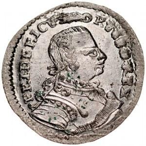 Prusy Książęce, Fryderyk II 1740-1786, 2 greszle 1751 B, Wrocław.
