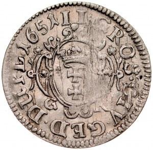 Jan II Kazimierz 1649-1668, Dwugrosz 1651, Gdańsk.