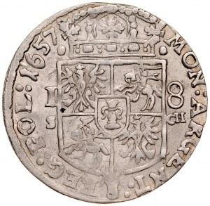 Jan II Kazimierz 1649-1668, Ort 1657 S-CH, Kraków.