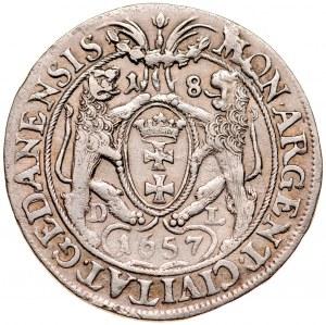 Jan II Kazimierz 1649-1668, Ort 1657 D-L, Gdańsk.