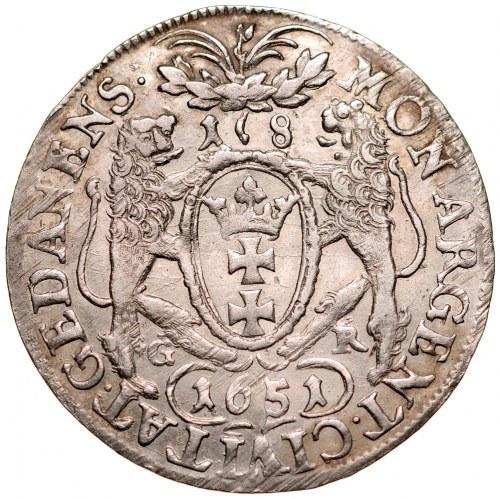 Jan II Kazimierz 1649-1668, Ort 1651 G-R, Gdańsk. RR.