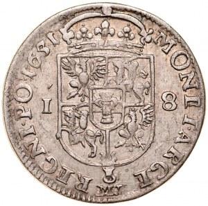 Jan II Kazimierz 1649-1668, Ort 1651 MW, Wschowa.