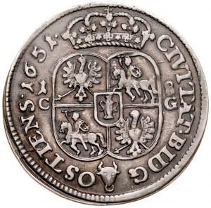 Jan II Kazimierz 1649-1668, Ort 1651 C-G, Bydgoszcz.