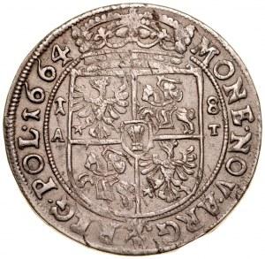 Jan II Kazimierz 1649-1668, Ort 1664 A-T, Kraków.