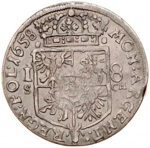 Jan II Kazimierz 1649-1668, Ort 1658 S-CH, Kraków.