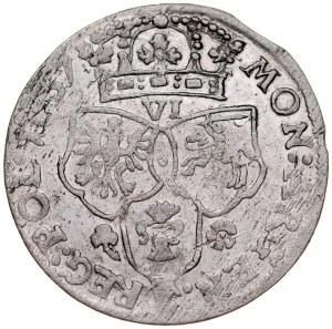 Jan II Kazimierz 1649-1668, Szóstak 1657 IT, Kraków.