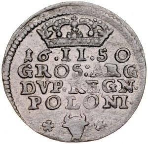Jan II Kazimierz 1649-1668, Dwugrosz 1650 C-G, Bydgoszcz.