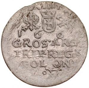 Jan II Kazimierz 1649-1668, Trojak 1662, Kraków.