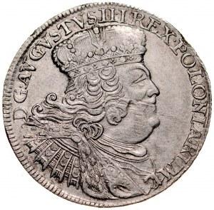August III 1733-1763, 18 groszy 1755, Lipsk.