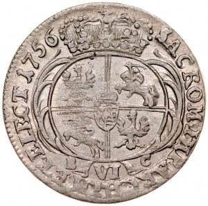 August III 1733-1763, Szóstak 1756, Lipsk.