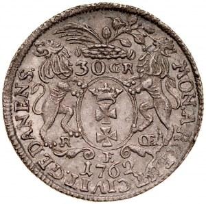 August III 1733-1763, 30 groszy 1762, Gdańsk.
