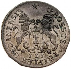 August III 1733-1763, Trojak 1755, Gdańsk.