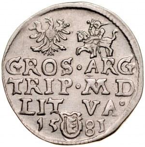 Stefan Batory 1576-1586, Trojak 1581, Wilno.