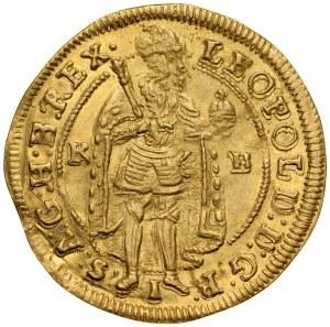 Węgry, Leopold I 1658-1705, Dukat 1702, Kremnica.